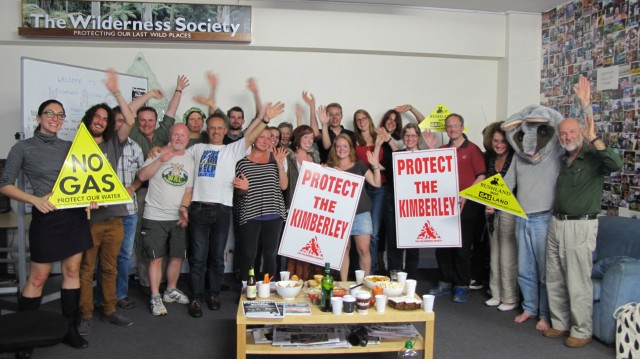 Wilderness Society - Save the Kimberley Campaigners at the Sydney office